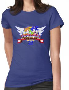 SONIC 2 TITLE SCREEN Womens Fitted T-Shirt