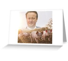David Cameron/Pig Field Greeting Card