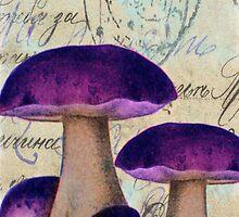 Purple Mushrooms by Norella Angelique