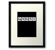 Agnostic Periodic Table Framed Print