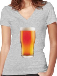 The Perfect Pint Women's Fitted V-Neck T-Shirt