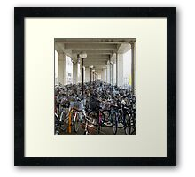 Bikes to the infinity  Framed Print