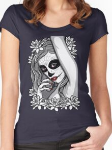 DAY OF DEAD GIRL Women's Fitted Scoop T-Shirt