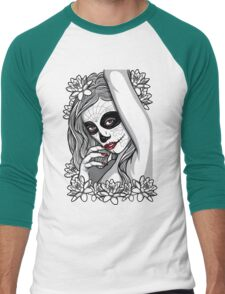 DAY OF DEAD GIRL Men's Baseball ¾ T-Shirt