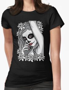 DAY OF DEAD GIRL Womens Fitted T-Shirt