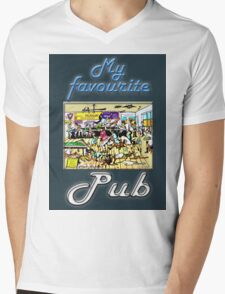 MY FAVOURITE PUB Mens V-Neck T-Shirt