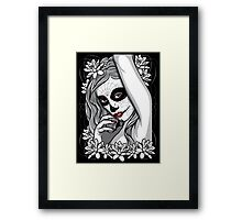 DAY OF DEAD GIRL Framed Print