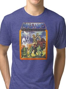 He-Man Masters of the Universe Battlecat and Teela Tri-blend T-Shirt
