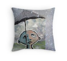 Raindrop Prelude No.1 in Krylon (brainstemming.com) Throw Pillow