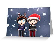 Dan and Phil Christmas  Greeting Card