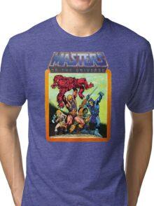 He-Man Masters of the Universe Battle Scene Tri-blend T-Shirt