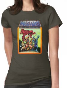 He-Man Masters of the Universe Battle Scene Womens Fitted T-Shirt