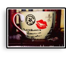 Rose Quartz And A Tea Cup Canvas Print