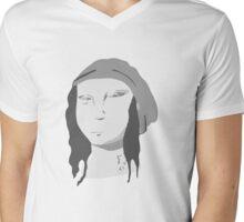 Hipster Mona Mens V-Neck T-Shirt