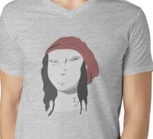 Hipster Mona Mens V-Neck T-Shirt