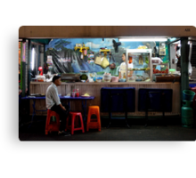 Pat Pong by night, solo bar Canvas Print