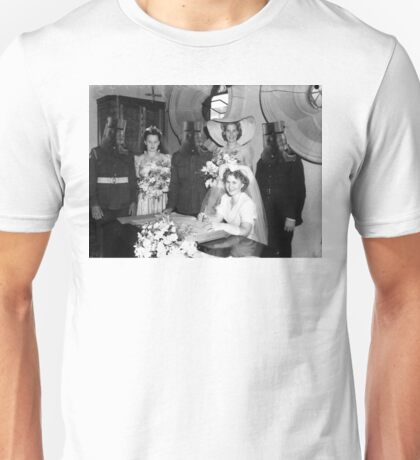 The wedding of Ned and Betty Kelly Unisex T-Shirt