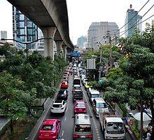 Traffic jam in BKK by Jean-Michel Dixte