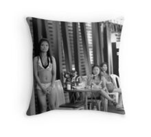 Pat Pong bars Throw Pillow