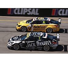 2013 Clipsal 500 Day 4 V8 Supercars - Wheelspin off the line, Caruso & T.Kelly Photographic Print