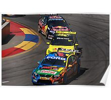 2013 Clipsal 500 Day 4 V8 Supercars - Winterbottom, Van Gisbergen & Whincup Poster