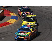 2013 Clipsal 500 Day 4 V8 Supercars - Winterbottom, Van Gisbergen & Whincup Photographic Print