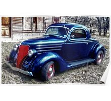 Mr. Johnson's Ford Coupe at the Kopperl Depot Poster