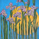 The Sun and Wild Irises by Karen Gingell