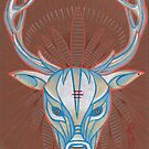 blue elk totem spirit animal. by resonanteye