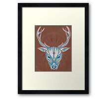 blue elk totem spirit animal. Framed Print