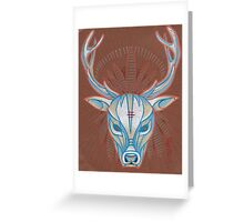 blue elk totem spirit animal. Greeting Card