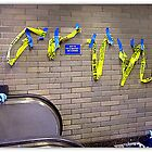 3D Graffiti With Blue Gloves by Michael May
