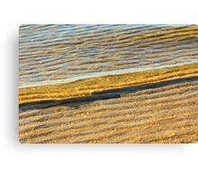 Wave over Sand Canvas Print