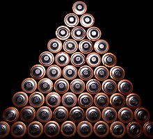 Pyramid Stacked AA Cell Batteries by mypic2sell