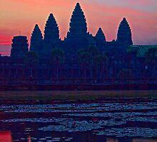 Cambodia. Angkor Wat. Sunrise. by vadim19