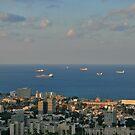 Sailing from  Haifa Bay by Nira Dabush