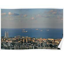 Sailing from  Haifa Bay Poster