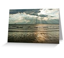 sunrays and mudflats Greeting Card
