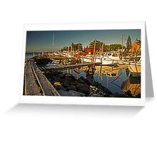 Fishing Fleet Greet Sunset Greeting Card