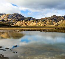 Reflections on Landmannalaugar by Silken Photography