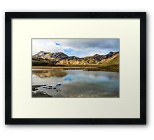 Reflections on Landmannalaugar Framed Print