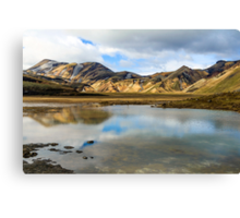 Reflections on Landmannalaugar Canvas Print