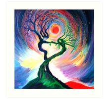'Dancing tree spirits' by annie b. Art Print