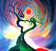 'Dancing tree spirits' by annie b. by anniebart