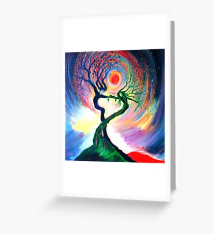 'Dancing tree spirits' by annie b. Greeting Card
