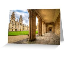 Oxford University - All Souls College 2.0 Greeting Card