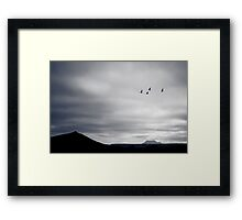 Geese Fly South for Winter Framed Print