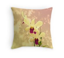 Purple Exotic with Shadows Throw Pillow