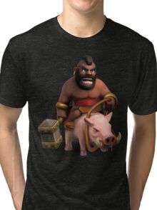 Hog Rider Art Tri-blend T-Shirt