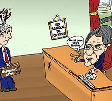 Banque Chypre ANASTASIADES caricature by Binary-Options
